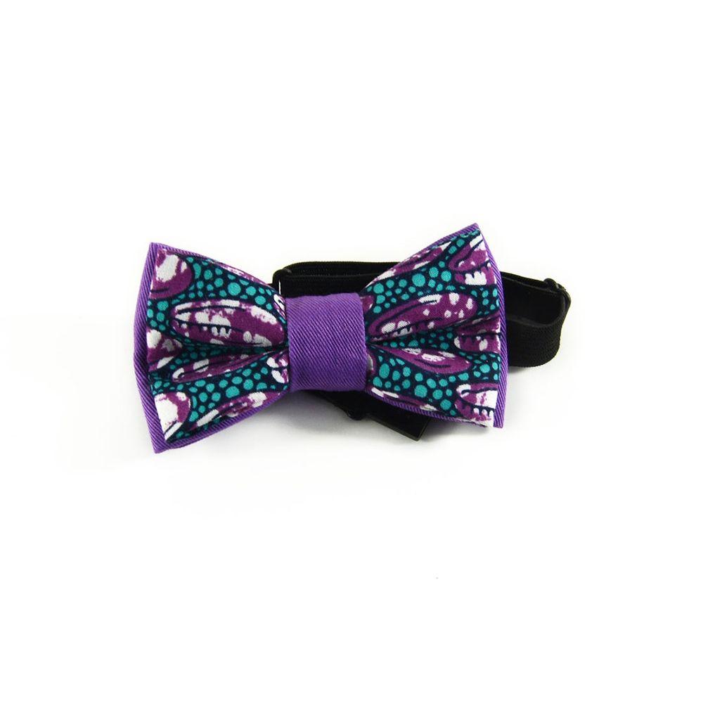 offre spéciale concepteur neuf et d'occasion nouveau style et luxe Noeud Papillon Violet Garçon Pagne Africain Wax
