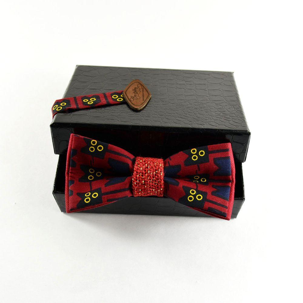 trouver le prix le plus bas clair et distinctif les mieux notés Noeud Papillon Homme Pagne Africain Wax Rouge Festif