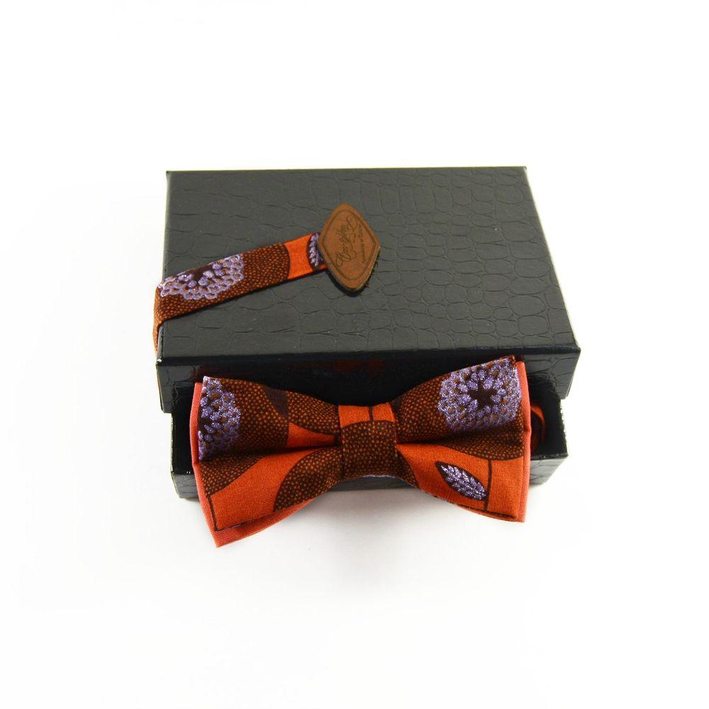 date de sortie design exquis mode Noeud Papillon Orange Homme Pagne Africain Wax