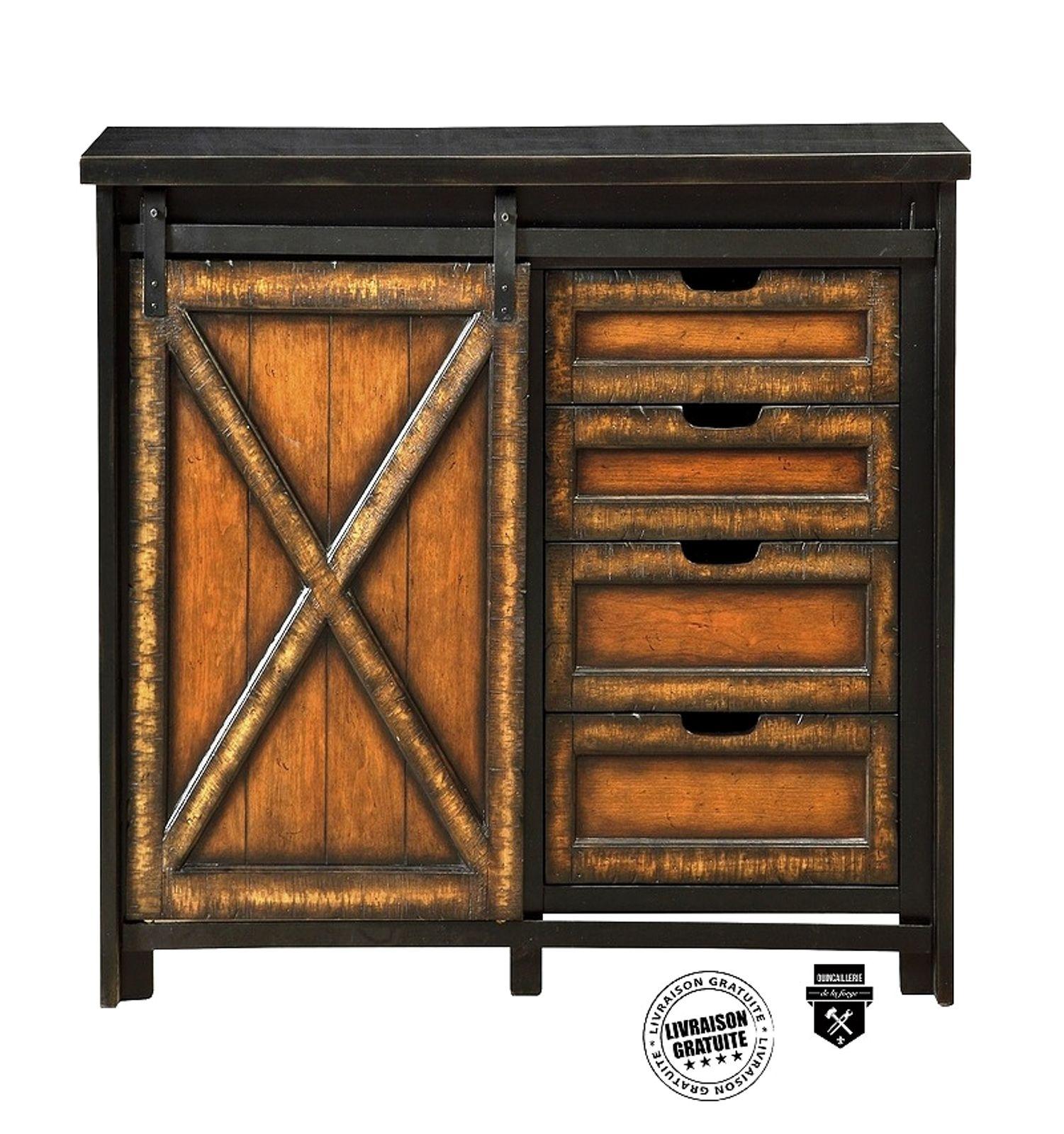 Tete De Lit Porte De Grange quincaillerie style grange pour meuble à porte simple
